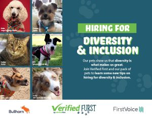 Verified First Hiring for Diversity and Inclusion Ebook with Bullhorn and FirstVoice