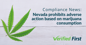 Nevada adverse action marijuana consumption