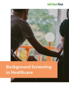 Background screening in healthcare