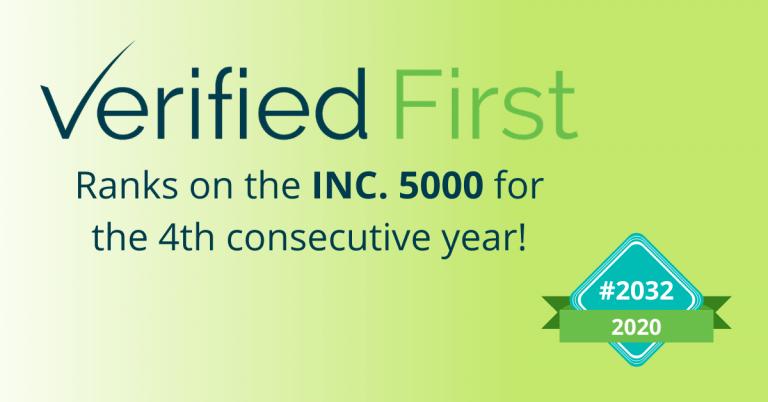 Verified First ranks on Inc. 5000 list