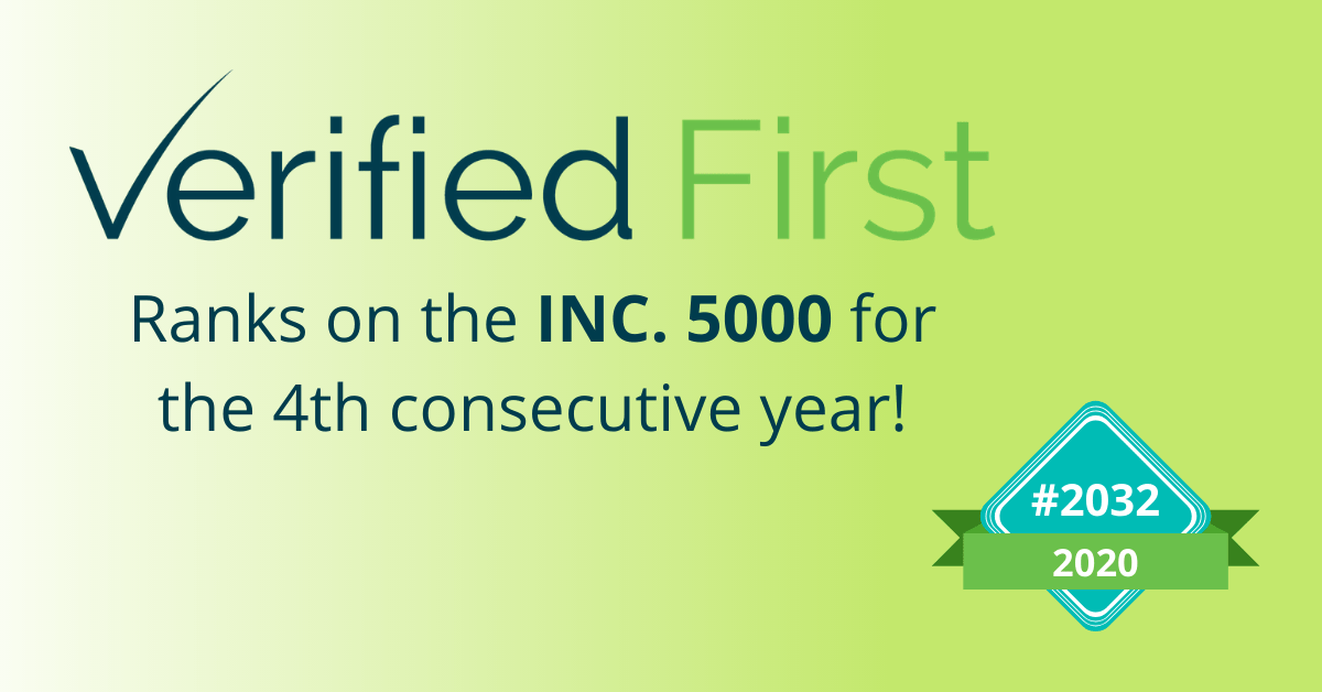 Verified First ranks on Inc. 5000 list