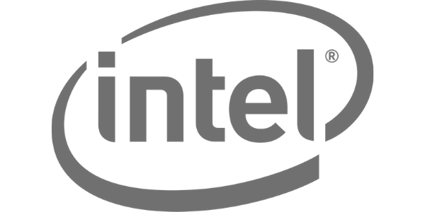 Intel Logo - Greyscaled