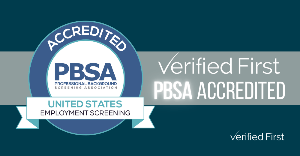 Verified First is PBSA Accredited