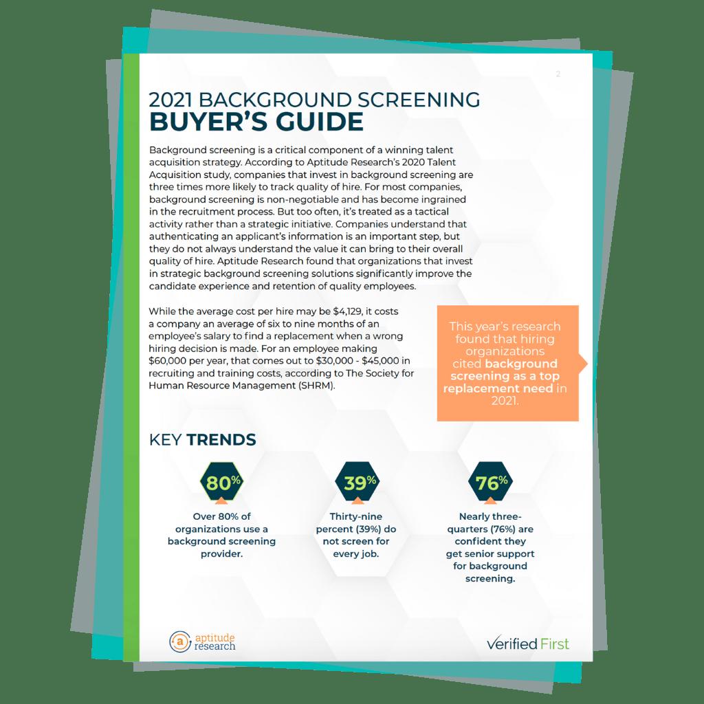 2021 Background Screening Buyer's Guide